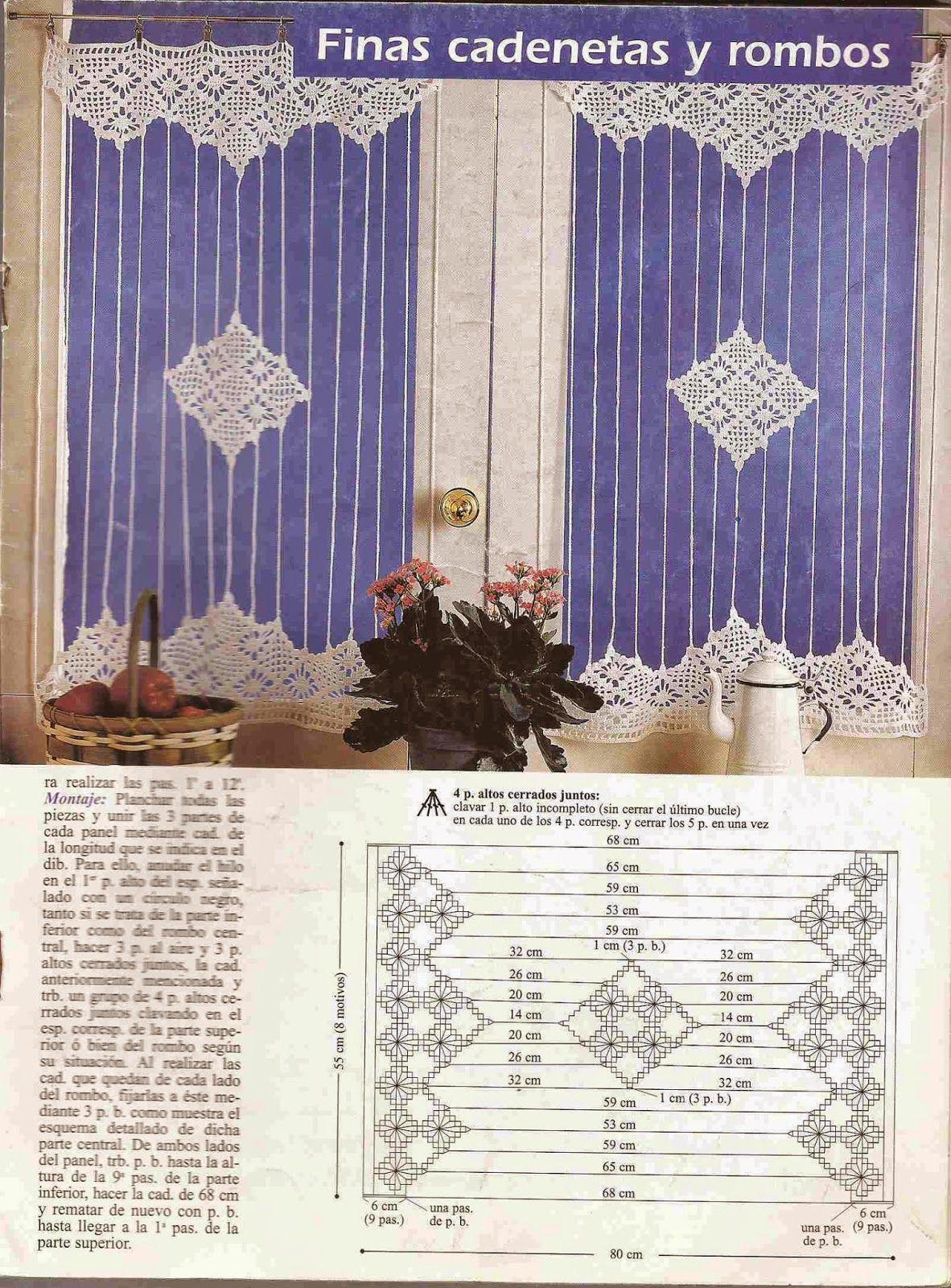 Patrón de Cortina | Crochet | Pinterest | Patrones de cortinas ...