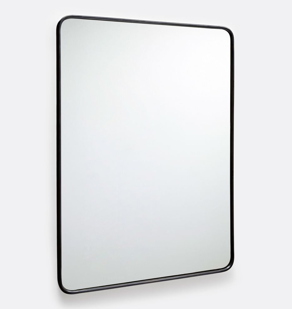 20 X 30 Oil Rubbed Bronze Rounded Rectangle Metal Framed Mirror Rejuvenation Metal Frame Mirror Mirror Frames Rounded Rectangle