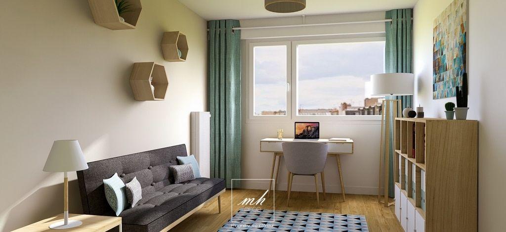 Bureau chambre d\'amis scandinave | Home ideas en 2019 | Idée ...