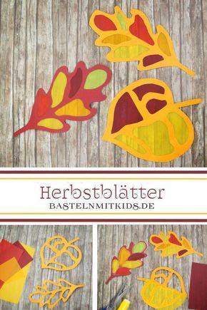 Basteln Herbst - Basteln mit Kindern #herbstdekotisch