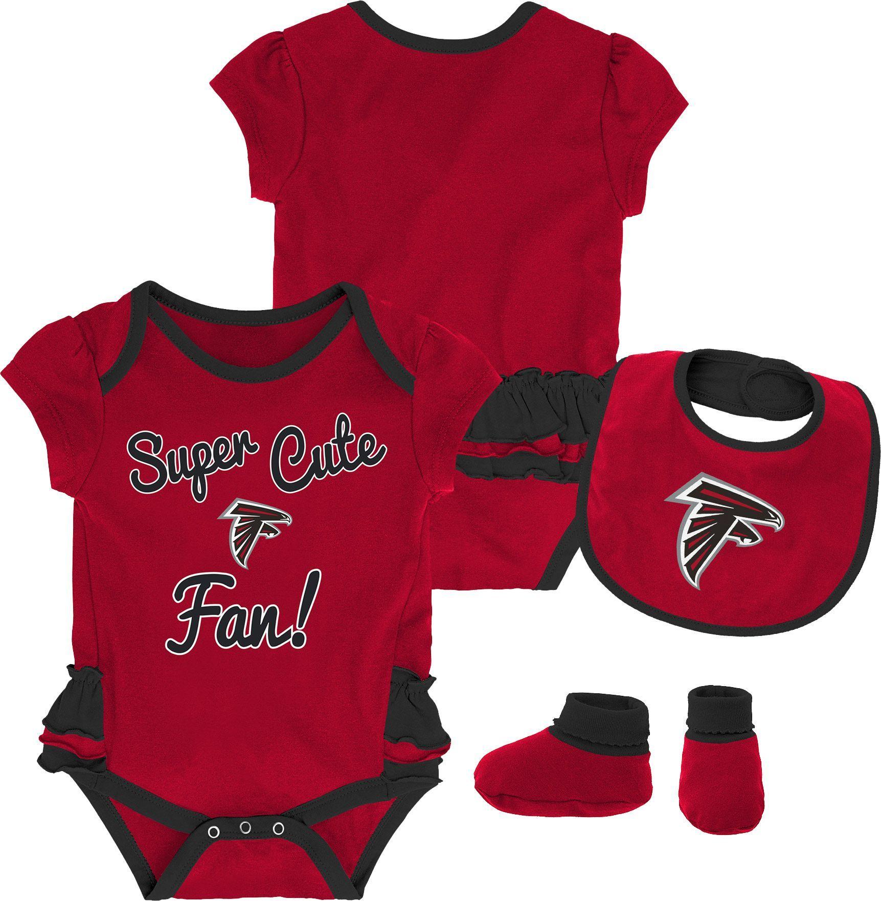 85a079e4e425 Team Apparel Infant Girls  Atlanta Trifecta Onesie Set