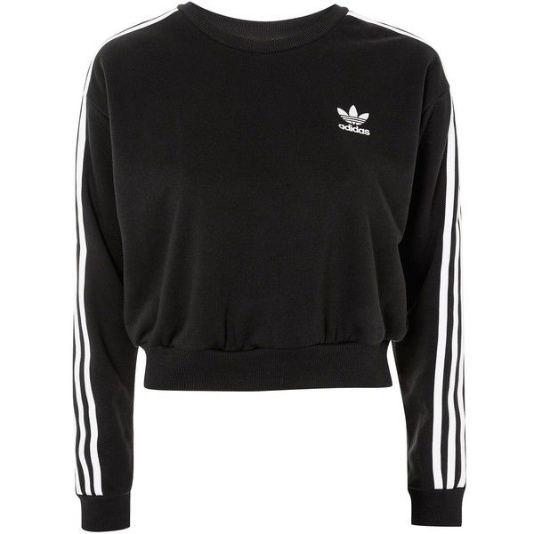 Adidas On 3 Stripe Liked Originals56❤ By Sweatshirt Cropped WI2EDH9