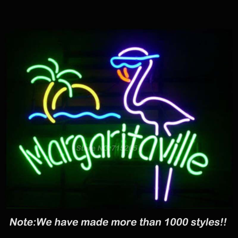 Margaritaville palm tree neon sign neon bulbs recreation room sign new margaritaville pink flamingo real glass neon light sign beer bar sign aloadofball Gallery