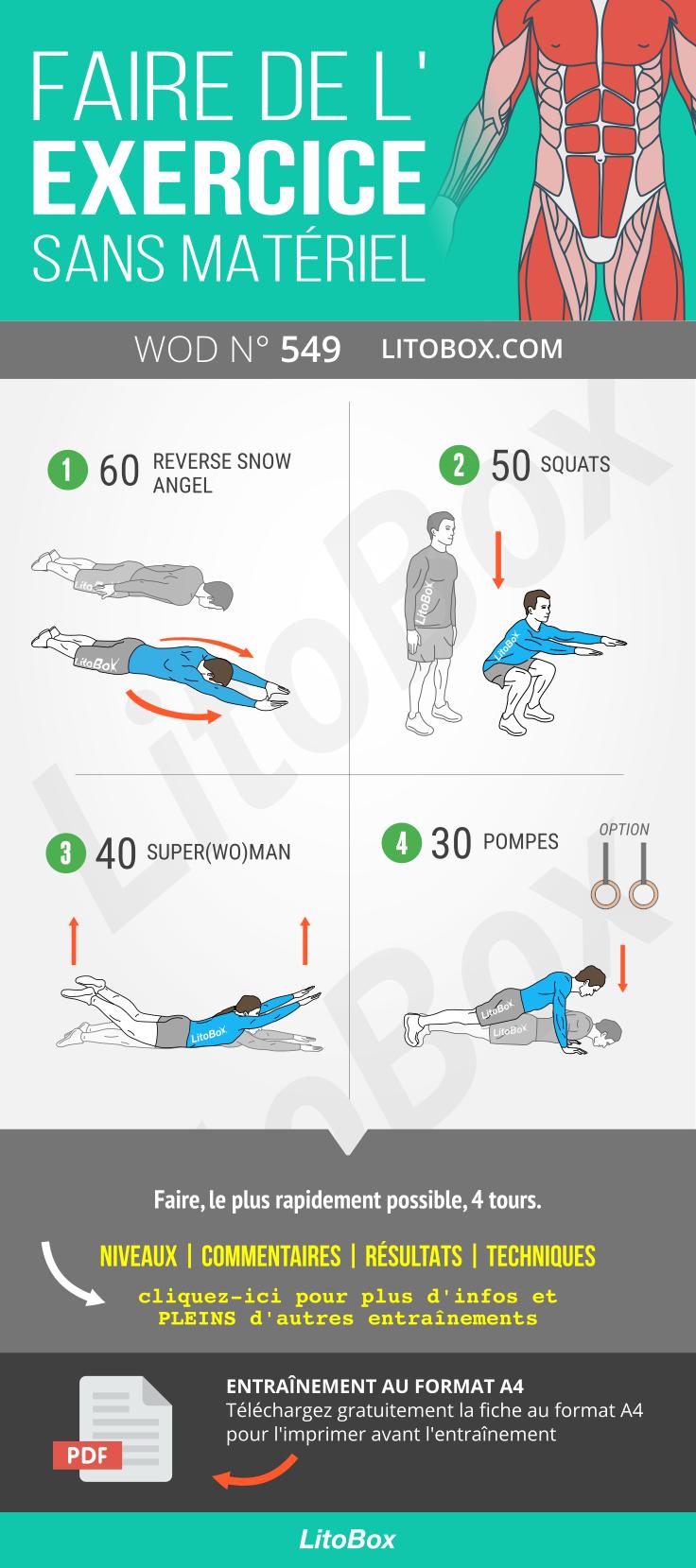 Exercice Sans Materiel Pdf A Telecharger Exercice Musculation Sans Materiel Exercice Musculation Exercice Musculation Dos