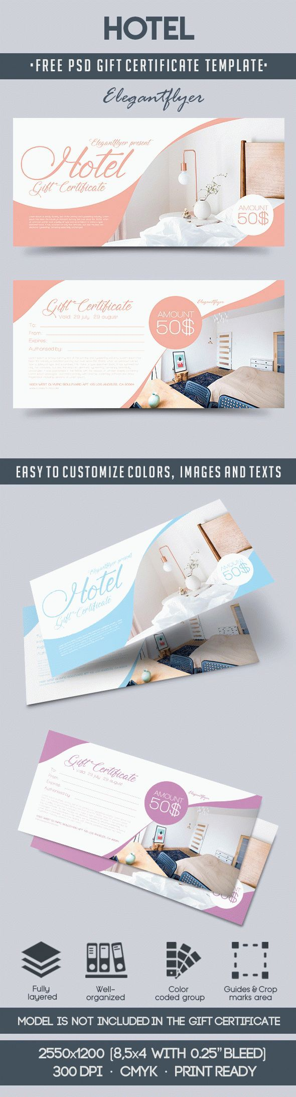 Hotel Free Gift Voucher | Free gift certificate template, Gift ...