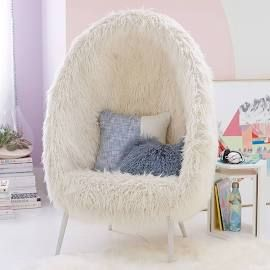 Admirable Furlicious Egg Chair At Pottery Barn Teen Lounge Gaming Machost Co Dining Chair Design Ideas Machostcouk