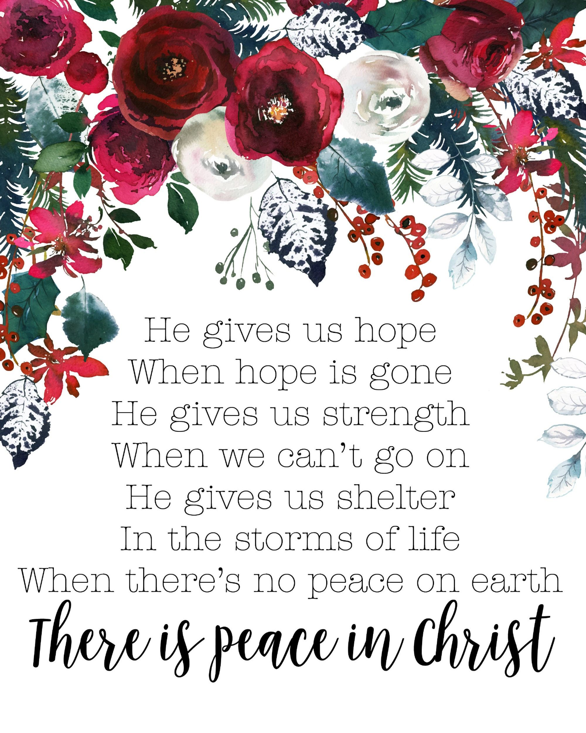 Printable Wall Art There Is Peace In Christ Lds Quote Instant