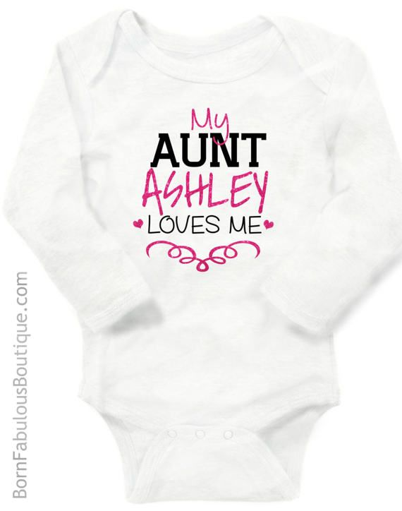 Personalized baby clothes aunt gift auntie by bornfabulouskids personalized baby clothes aunt gift auntie by bornfabulouskids negle Image collections