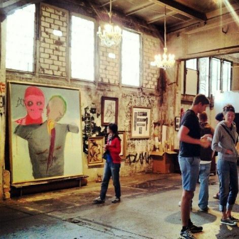 Skalitzers Gallery, which hosts special exhibitions of street art, has found unofficial homes in which to squat among Berlin's abandoned buildings. Photo: Katie Hammel, SFC / SF (articles includes places to eat and visit and stay at in Berlin)