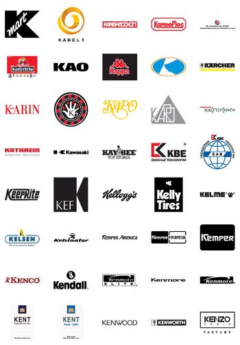Free Vector Logos Famous Company Logos And Trademarks Letter K Designfreebies Vector Logo Logo Quiz Lettering
