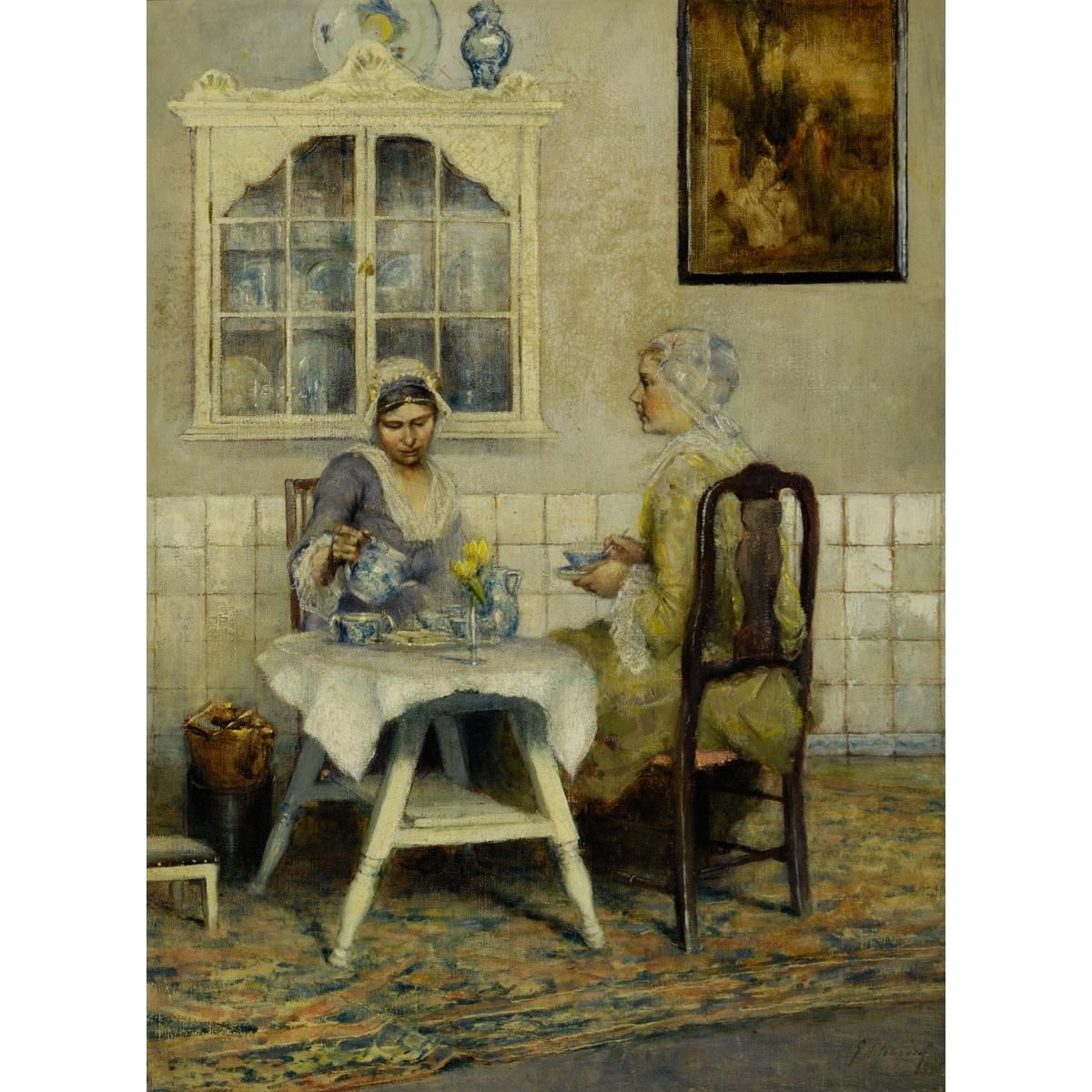 Tea for Two, 1885, by George Hitchcock