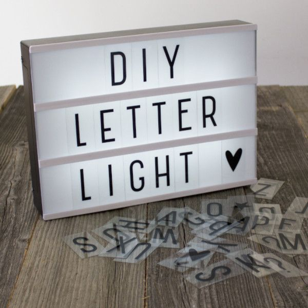 Diy Lightbox Letter Lamp Hopefully There Are Different Font