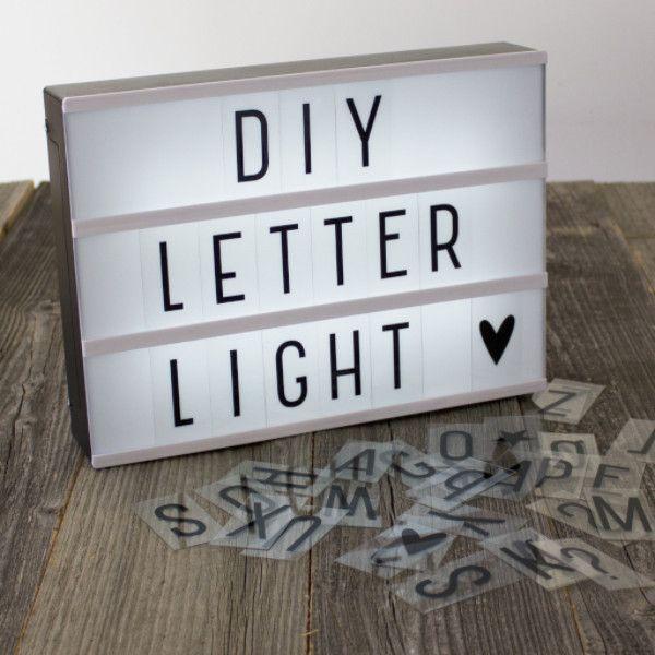 a4 diy lightbox letter lamp h o m e pinterest ideen deko und lampen. Black Bedroom Furniture Sets. Home Design Ideas