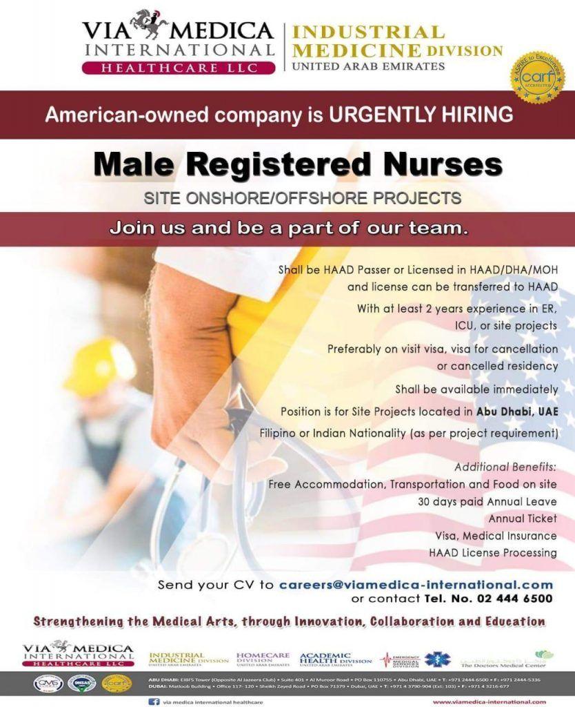 Nurse Openings Uae Nurse Uae Job