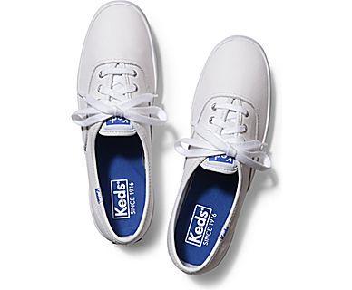 1a9e7013a2 Keds Shoes Official Site Champion Leather   Fashion   White tennis ...