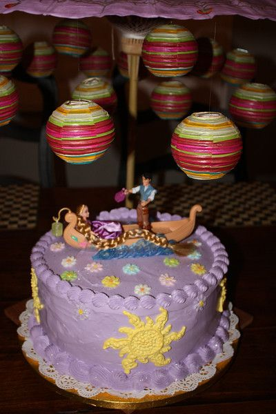 Repunzel Cake just saw those figures half price at Wal-Mart!