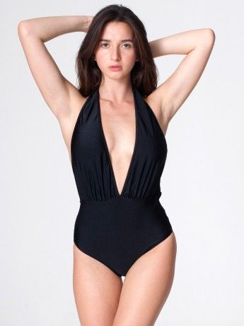 22608df907741 Nylon Tricot Halter One-Piece | One-Pieces | Women's Swimwear | American  Apparel