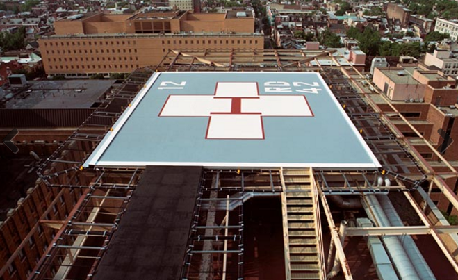 The Helipad At Thomas Jefferson University Hospital In