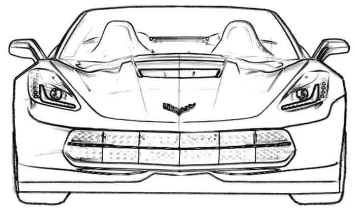 corvette coloring pages - corvette c7 coloring page corvette pinterest
