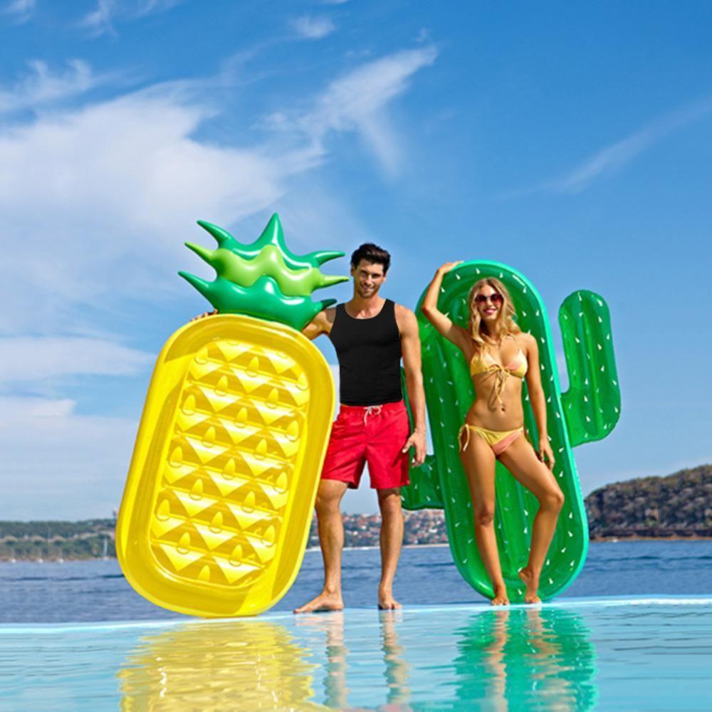 INFLATABLE SWIM POOL FLOATS Raft Swimming Summer Fun Kids Water Sports Beach Toy