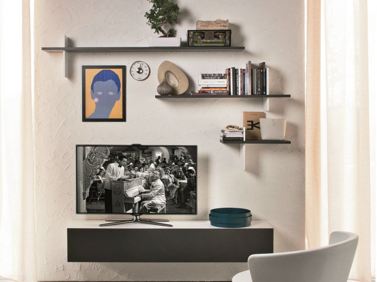 Wall Shelving For Living Room Modern Wall Mounted Tv Shelves With Plywood Wall Cabinet Upper