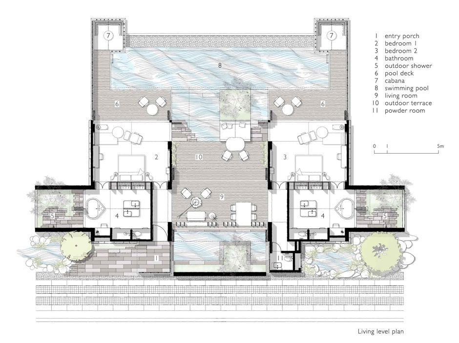 Two Bedroom Pool Villa Alila Villas Bintan Resort Plan Hotel Plan Hotel Floor Plan