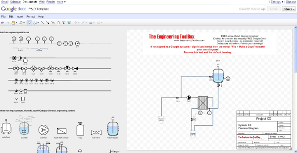 P Id Diagram Template Online Drawing P Id Diagram Drawing Tools