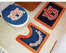 New Auburn University Tigers 3 Pc Bath Rug Set Bathroom
