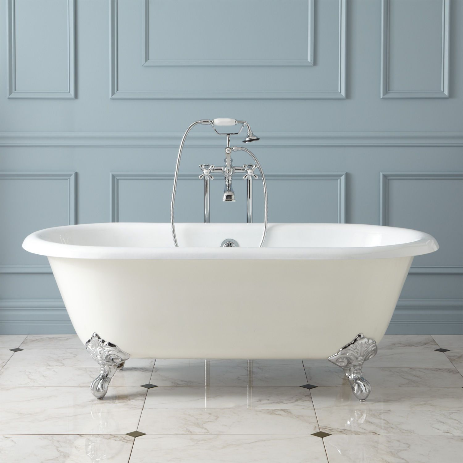 Details About 72 Large Cast Iron Double Slipper Clawfoot Tub With