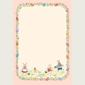 photo about Easter Stationery Printable named Lovely Totally free printable Easter stationery. Lovable for invitations in direction of