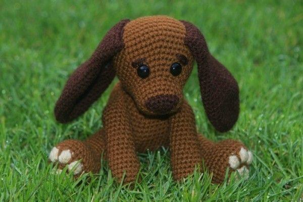 Hund selber häkeln – DIY-PDF- Amigurumi ✓ | Tiere häkeln ...