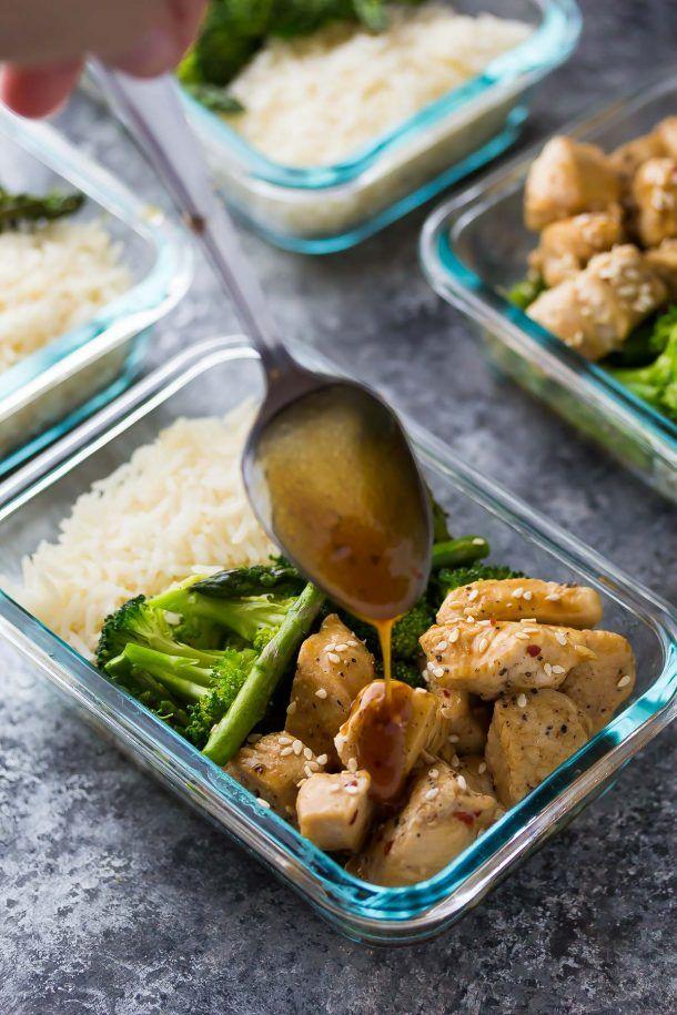 Honey Sesame Chicken Lunch Bowls Recipe Lunch Meal Prep