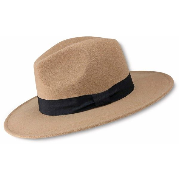 Women's Felt Panama Hat with Ribbon Band, Size: OSFM, Natural (£12) ❤ liked on Polyvore featuring accessories, hats, natural, band hats, felt panama hat, felt hat, panama hat and ribbon hat