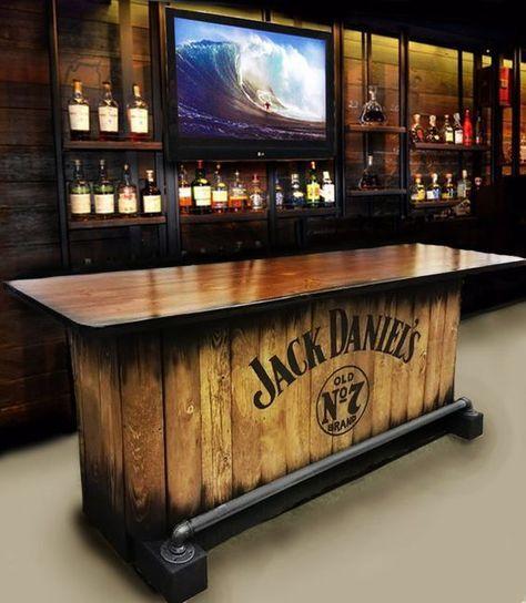 Items Similar To Home Bar Custom Hand Built Rustic Whiskey, Pub, Man Cave,  Barn Jim Beam Devilu0026 Cut Charred Barrel Theme U SHIP On Etsy