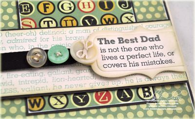 fathers day card close-up