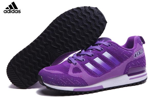 7be9b9528d672 Women s Adidas Originals ZX 750 Flyknit Shoes Violet Silver