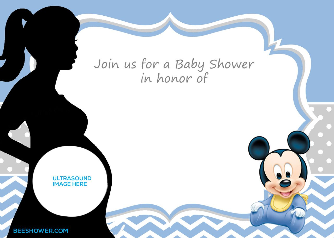 mickey mouse baby shower invitations printable Josemulinohouseco