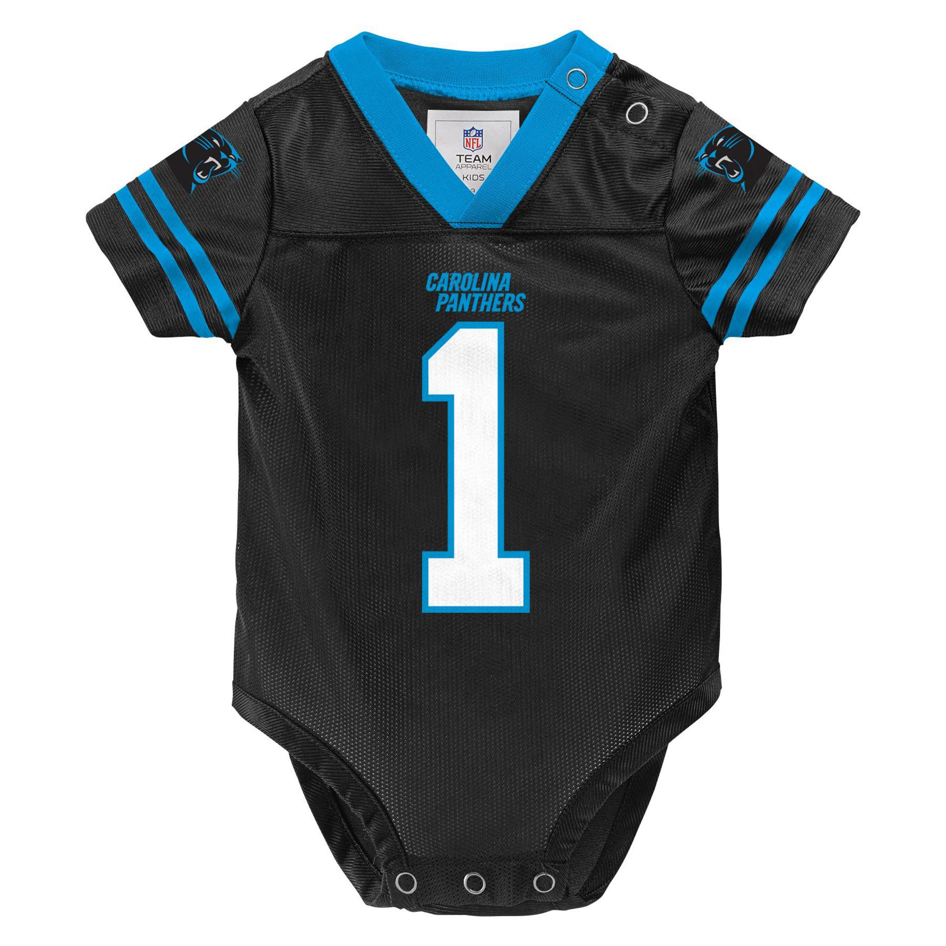 NFL Infants  Player Jersey Bodysuit - Carolina Panthers Cam Newton ... 7d77677bd