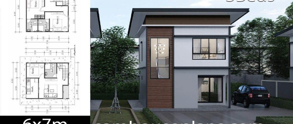House Plans Idea 6x7 With 3 Bedrooms Sam House Plans House Plans Small House Design Plans Small House Design Small house design 2 storey with floor plan