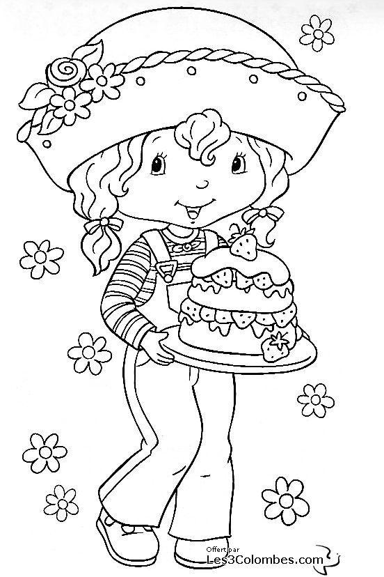 Charlotte aux fraises a imprimer 49 - Coloriage en ligne ...