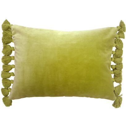Give your home a touch of colour with our vibrant Kiwi Green Velvet fringe Cushion. - 100% cotton velvet pile - Size 35cm x 50cm - Zip fastening - Removable inner polyester pad - Unsuitable for a machine wash - Dry clean only due to cotton velvet pile - Matching items available