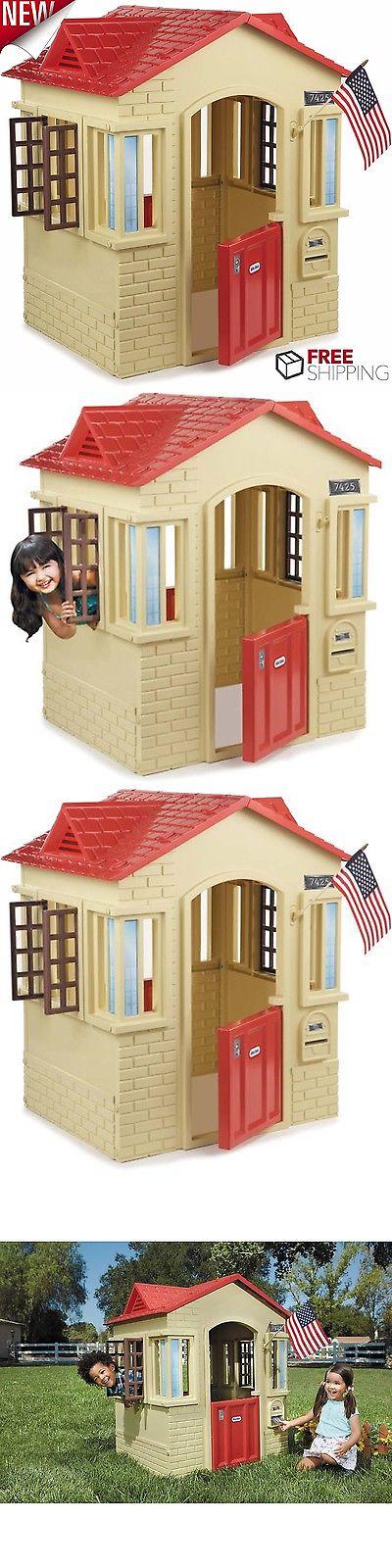 Permanent Playhouses 145995 Plastic Playhouse Kids Cottage Children