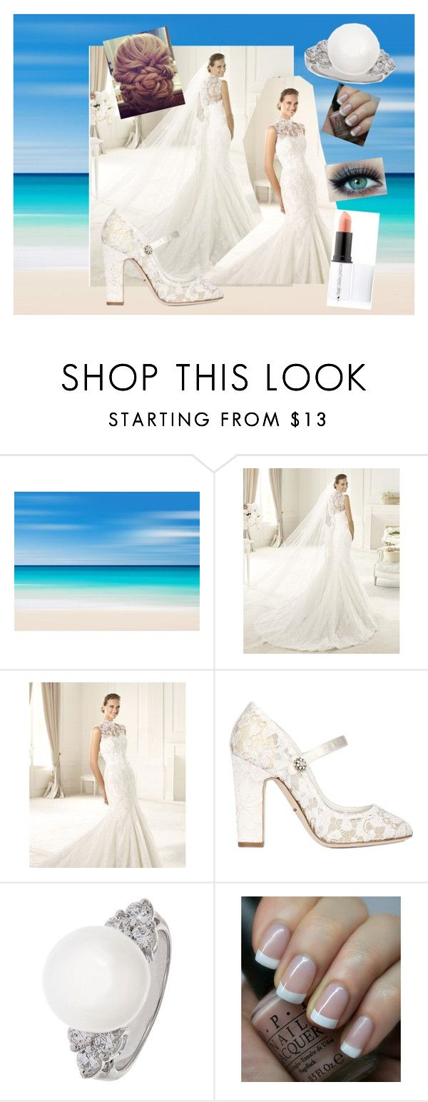 Lace Wedding by just-lynn-fashions on Polyvore featuring Dolce&Gabbana, MICHELA, Diego Dalla Palma, OPI, women's clothing, women's fashion, women, female, woman and misses
