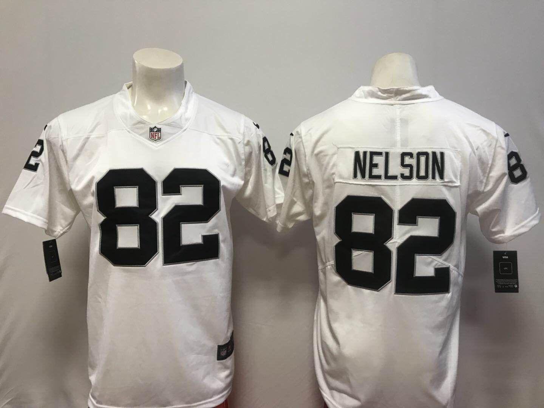 1a753c4cbfc Men Oakland Raiders 82 Nelson White Vapor Untouchable Player Nike Limited NFL  Jerseys