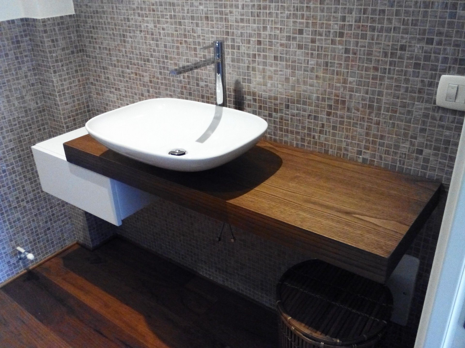 mobili bagno in legno su misura a savona | casa | pinterest - Bagni Moderni Legno