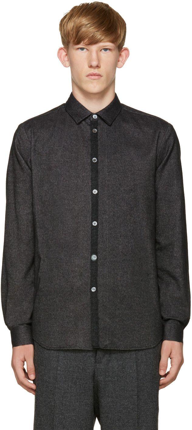Flannel shirt black  STEPHAN SCHNEIDER BLACK FLANNEL SHIRT stephanschneider cloth