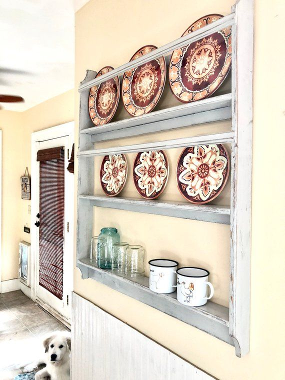 Farmhouse Plate Rack featured in Country Living Magazine #plateracks