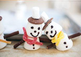 So sweet: Marshmallow-Snowmen