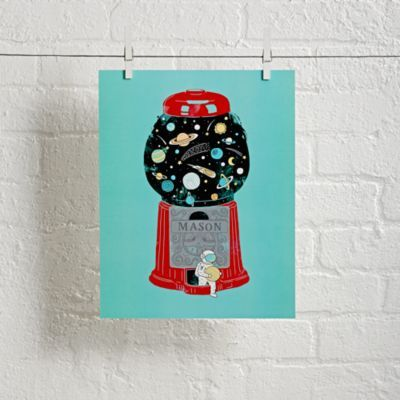 Unframed Childhood Universe Personalized Art | The Land of Nod