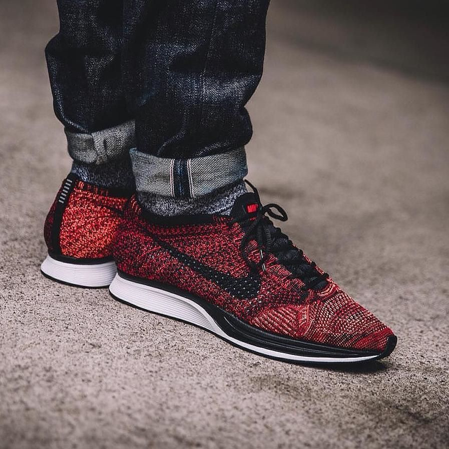 82b77a27bcde The new Nike Flyknit Racer University Red looks amazing! Via OVERKILL  BERLIN  nike